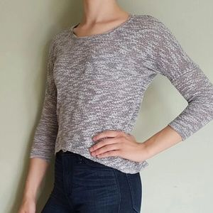 Marled Gray Crop Top XS